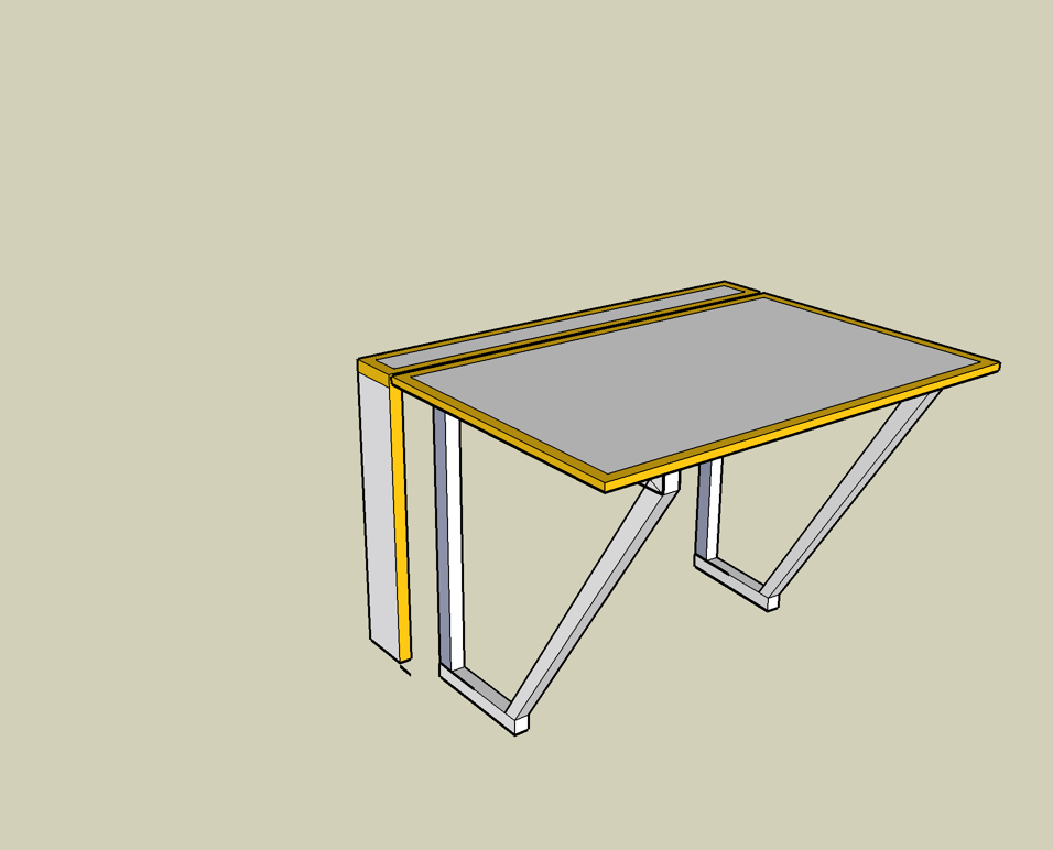 Fold away Desk Richard Sothcott Brighton Carpentry