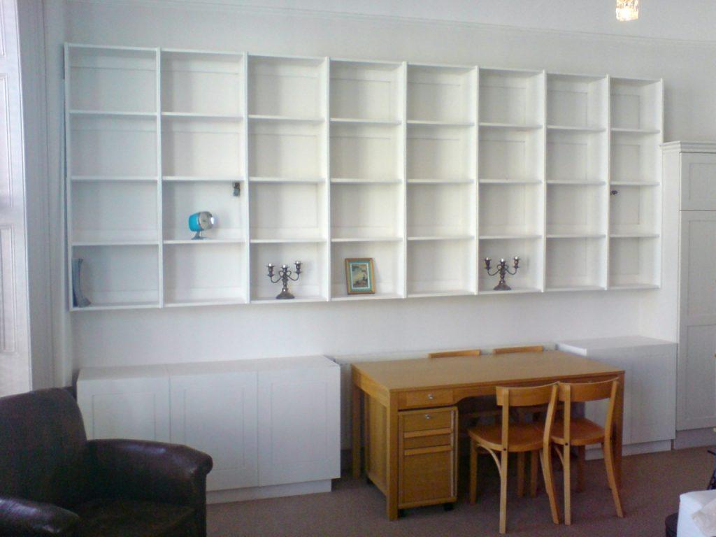 white shelving cabinets richard sothcott brighton carpentry rh brightoncarpentry co uk Built in Shelves and Cabinets shelving and cabinet units google
