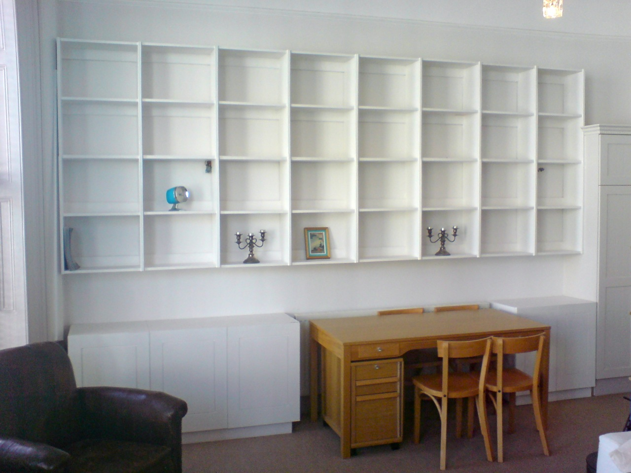 white shelving cabinets richard sothcott brighton carpentry rh brightoncarpentry co uk shelves with filing cabinets Country Cabinets and Shelves